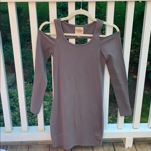 Chaser Long Sleeve Cold Shoulder Bodycon Dress